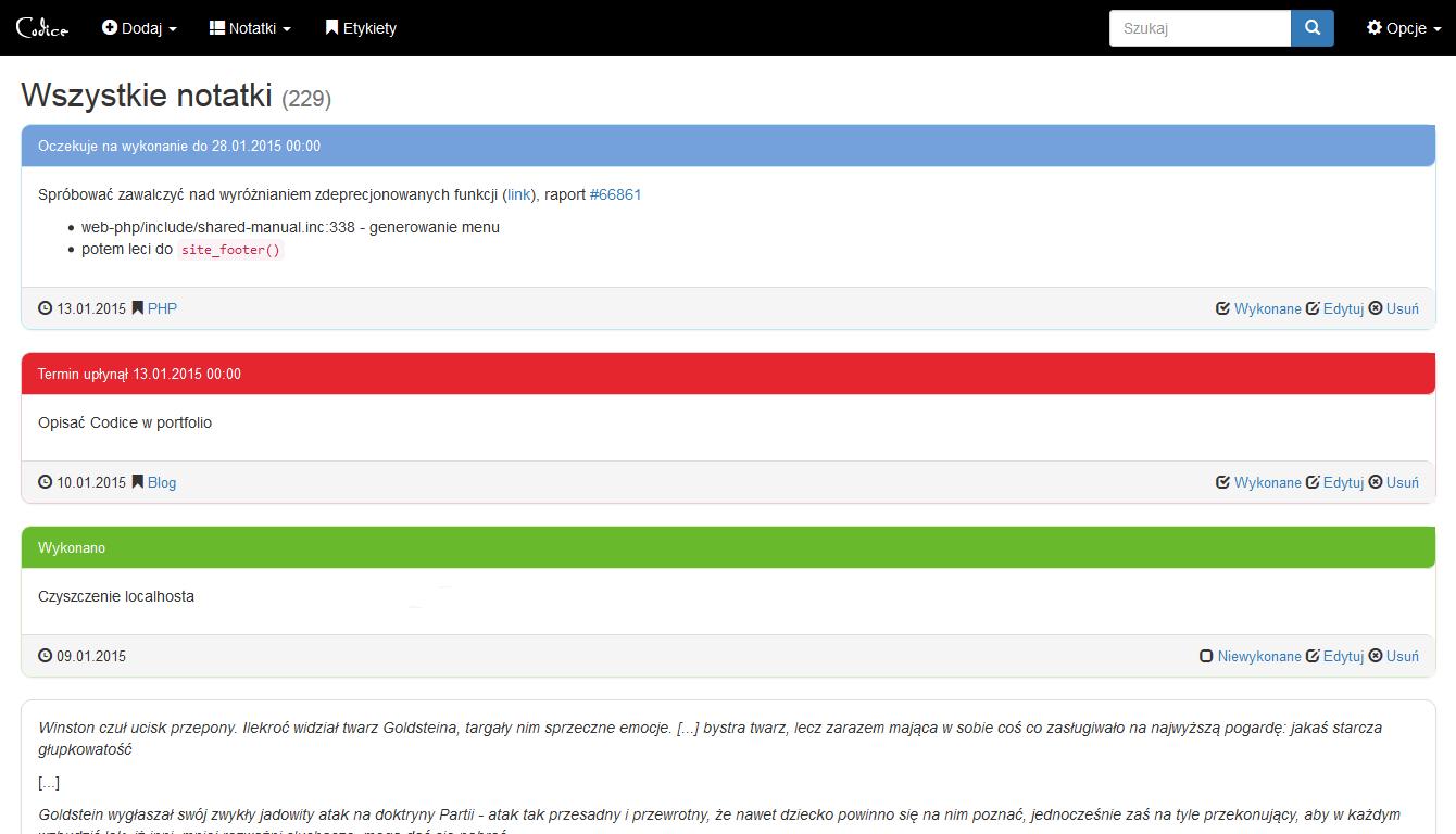 Nowa wersja Codice