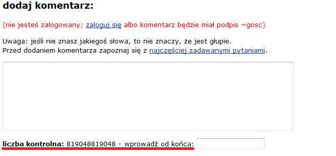 Zabezpieczenie antyspamowe sjp.pl